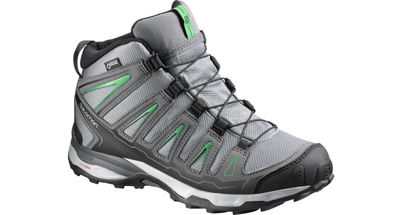 Salomon X-Ultra Mid GTX Shoes Juniors pearl grey/dark cloud/athletic green x